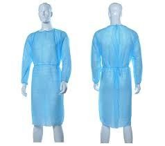 Chemical Resistant Disposable Surgical Gown Customized Color Long Sleeves