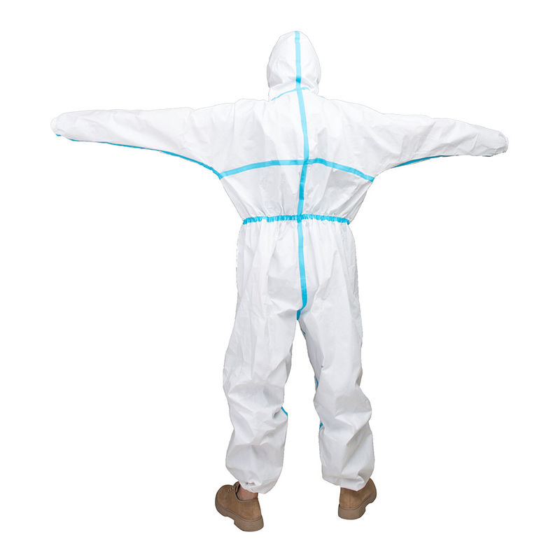 Chemical Resistant Disposable Protective Suit Polypropylene Nonwoven Material