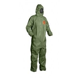 Waterproof Disposable Coverall Suit Chemical Protective Excellent Heat Dissipation