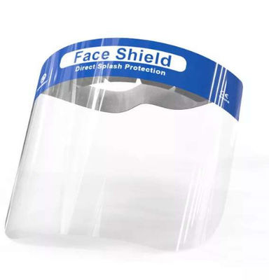 China PET Transparent Splash Face Shield Comfortable Wearing Environmental Friendly factory
