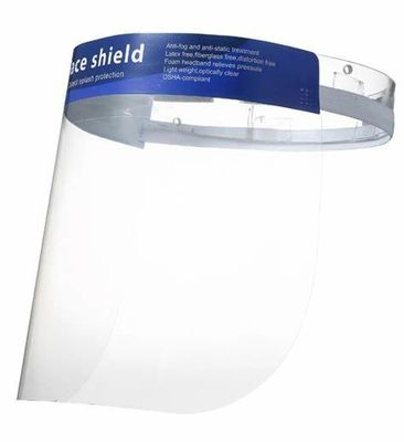 China Tasteless Disposable Face Shield Non Toxic Splash Proof With Elastic Band factory