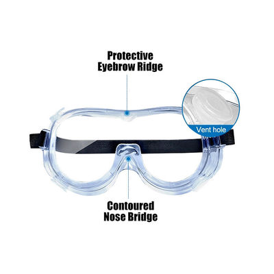 China Fully Enclosed 5.9 L X 2.95 W Disposable Protective Eyewear factory
